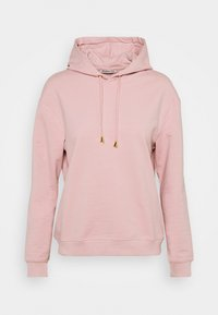 Anna Field - Basic loose hoodie with gold trim - Hoodie - pink - 4