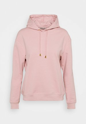 Basic loose hoodie with gold trim - Jersey con capucha - pink