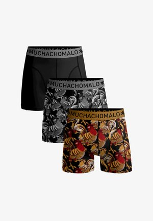 PACK BOXERSHORTS ROOSTER - Briefs - black/grey/gold