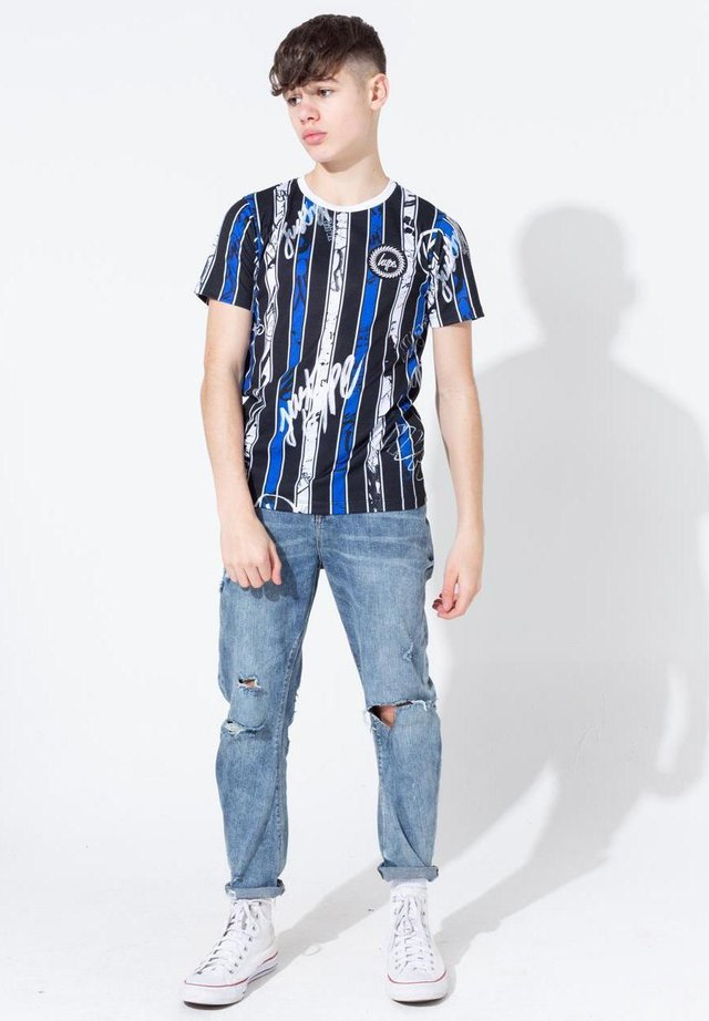 GRAFFITI STRIPE - T-shirt imprimé - blue