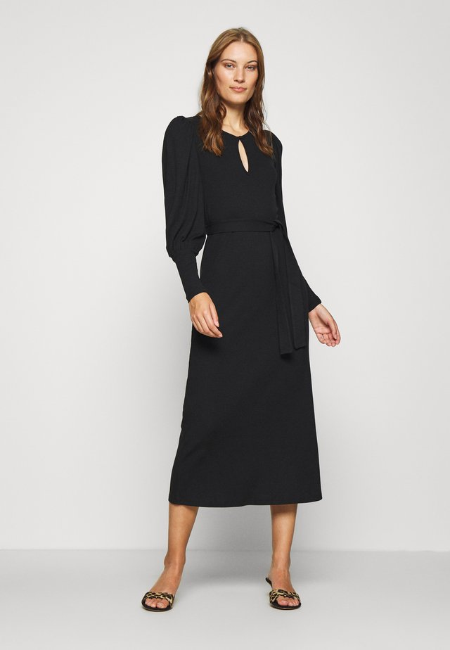 ALLISON DRESS - Maxi-jurk - pitch black