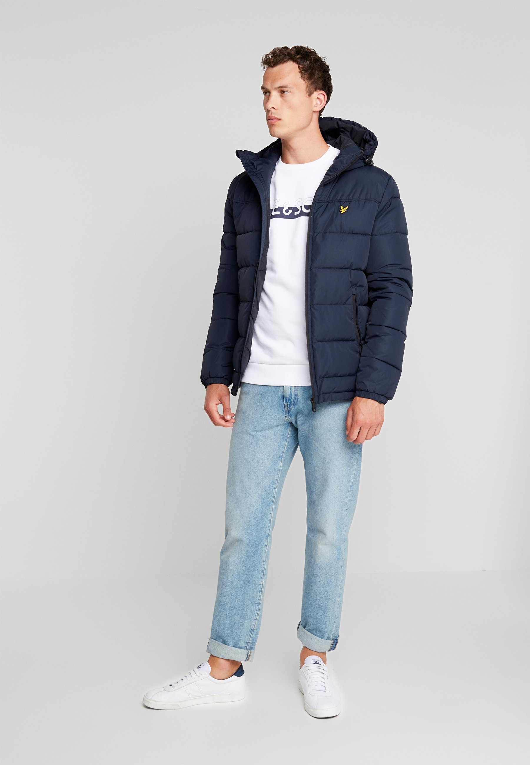Lyle & Scott WADDED JACKET Vinterjakke dark navy