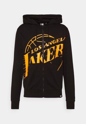 NBA LOS ANGELES LAKERS ENLARGED LOGO FULL ZIP HOODY - Klubbkläder - black