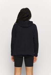 DKNY - TRACK LOGO ZIP HOODI - Zip-up hoodie - black - 2