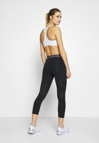 Nike Performance - CROP - Tights - black/white - 2