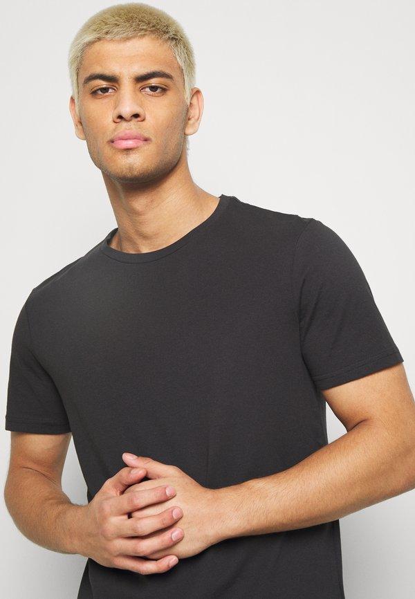 Pier One 7 PACK - T-shirt basic - black/czarny Odzież Męska VTDP