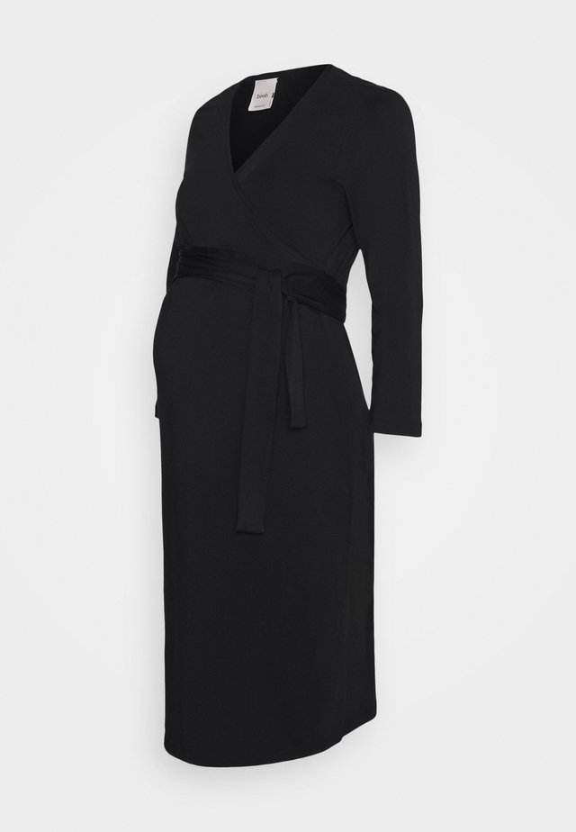 GISELLE WRAP DRESS - Jersey dress - black