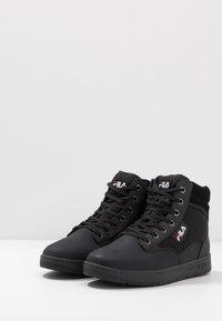 Fila - KNOX MID - High-top trainers - black - 2