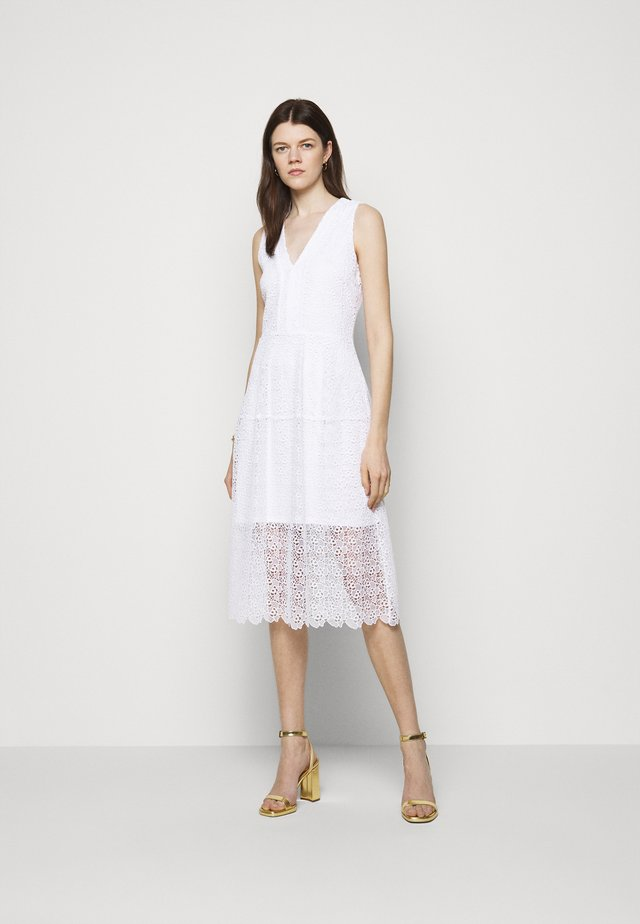 MIDI DRESS - Cocktail dress / Party dress - white