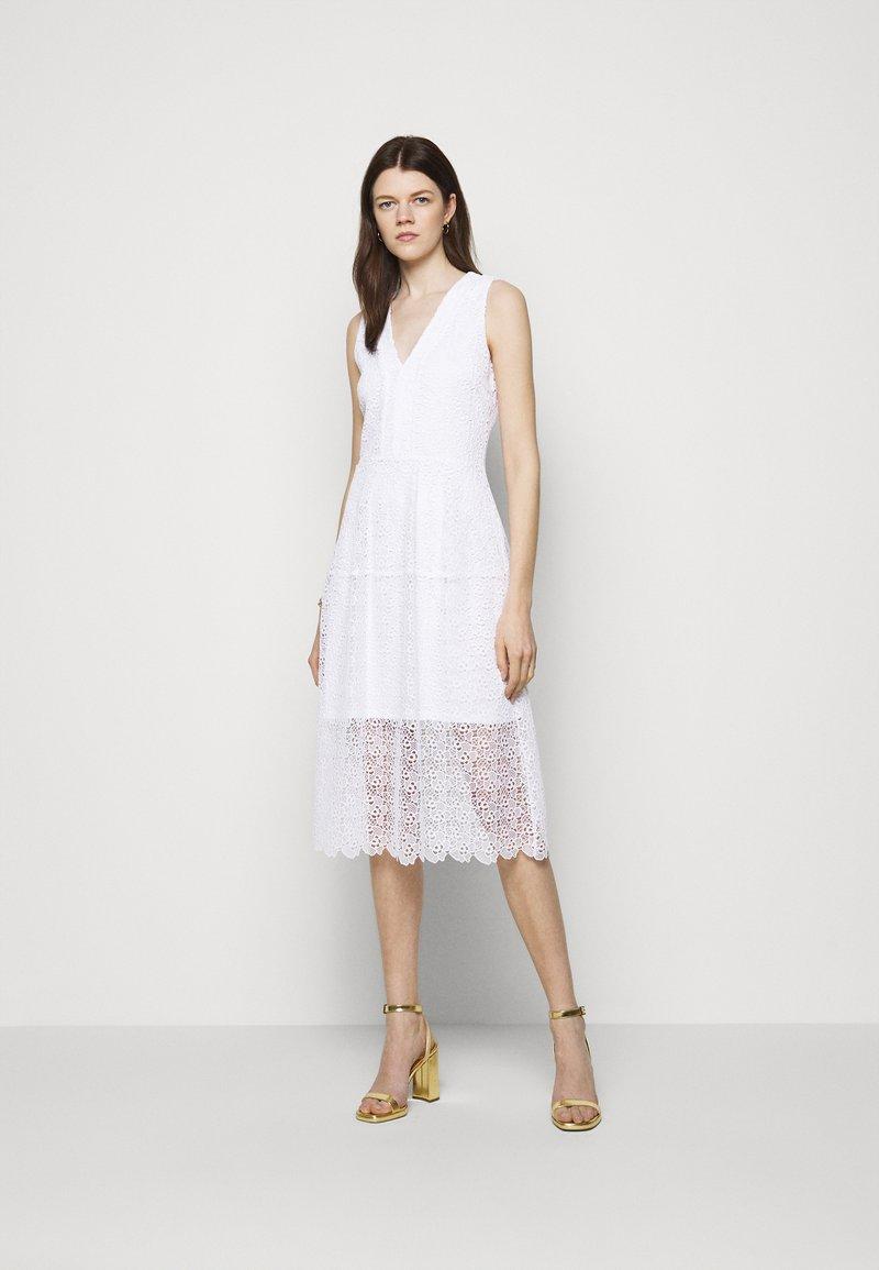 MICHAEL Michael Kors - MIDI DRESS - Cocktail dress / Party dress - white