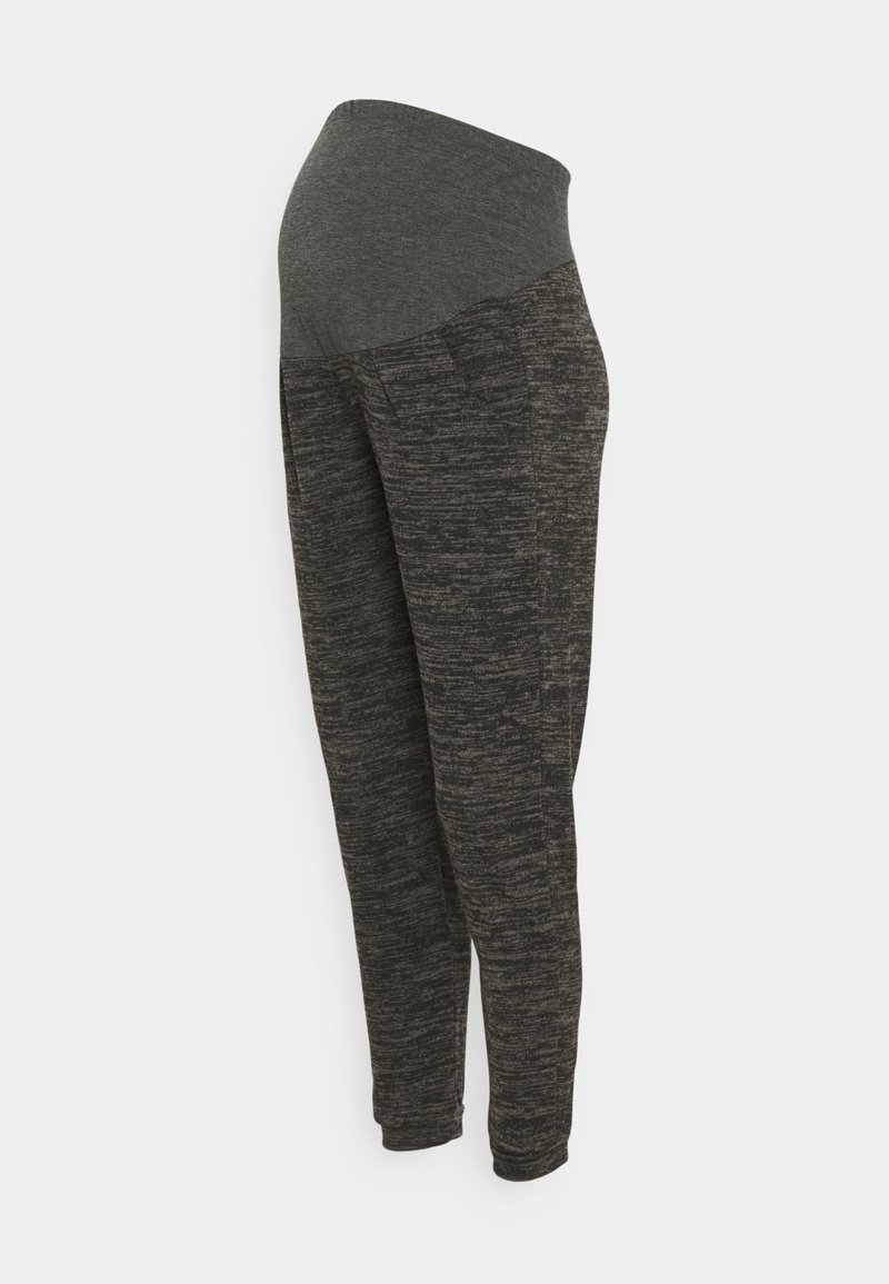 Dorothy Perkins Maternity - OVER BUMP BRUSHED JOGGER - Tracksuit bottoms - charcoal marl