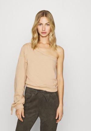 ONE SHOULDER - Sweatshirt - beige