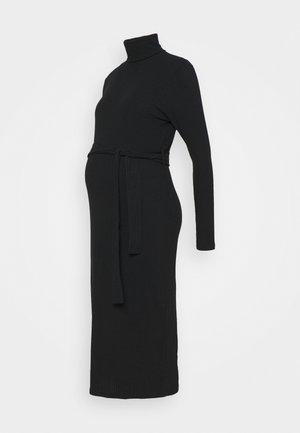 ROLL BELT MIDI - Jersey dress - black