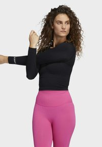 adidas Performance - FORMOTION CROPPED TRAINING TEE - Long sleeved top - black - 2