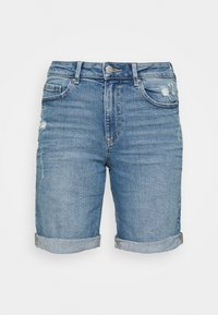 BOYFRIEND - Shorts di jeans - light blue denim