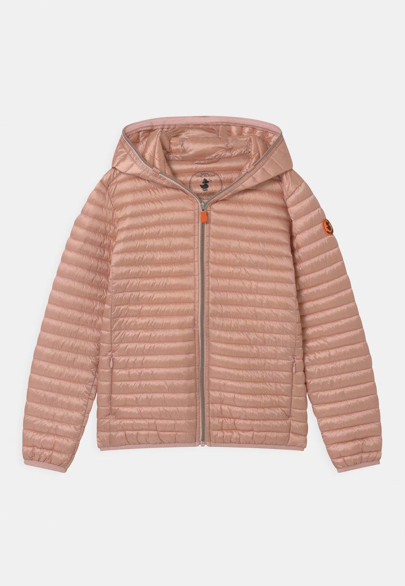 Save the duck - IRIS HOODED UNISEX - Lehká bunda - powder pink