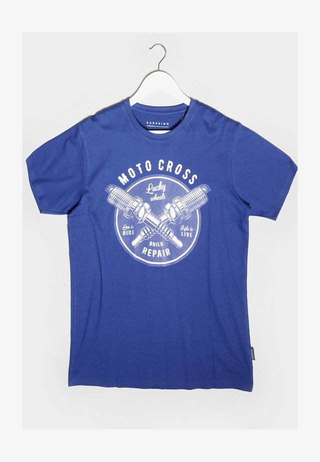 MOTORCROSS GRAPHIC - Print T-shirt - blue