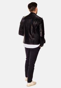 LEATHER HYPE - JORDAN PERFECTO - Leather jacket - black - 2