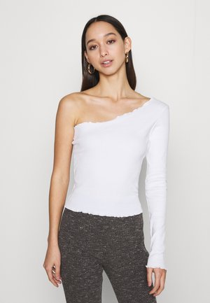 ONE SHOULDER BABY LOCK - Long sleeved top - white