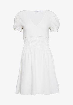 PUFF SLEEVE MINI DRESS - Kjole - white