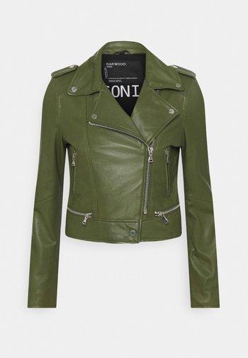 YOKO - Leather jacket - green