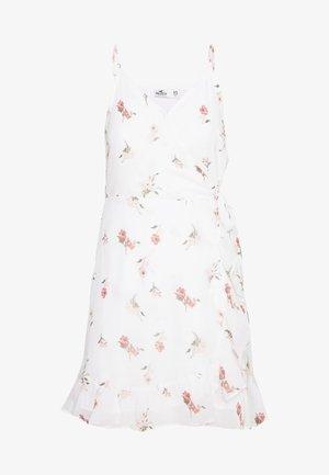 BARE SHORT DRESS - Denní šaty - white floral