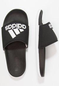 adidas Performance - ADILETTE CF LOGO - Sandály do bazénu - core black/footwear white - 3