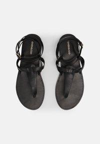 Even&Odd Wide Fit - T-bar sandals - black - 4