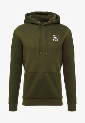 MUSCLE FIT OVERHEAD HOODY - Sweat à capuche - khaki/white