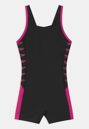 BOOM LOGO SPLICE  - Swimsuit - black/electric pink
