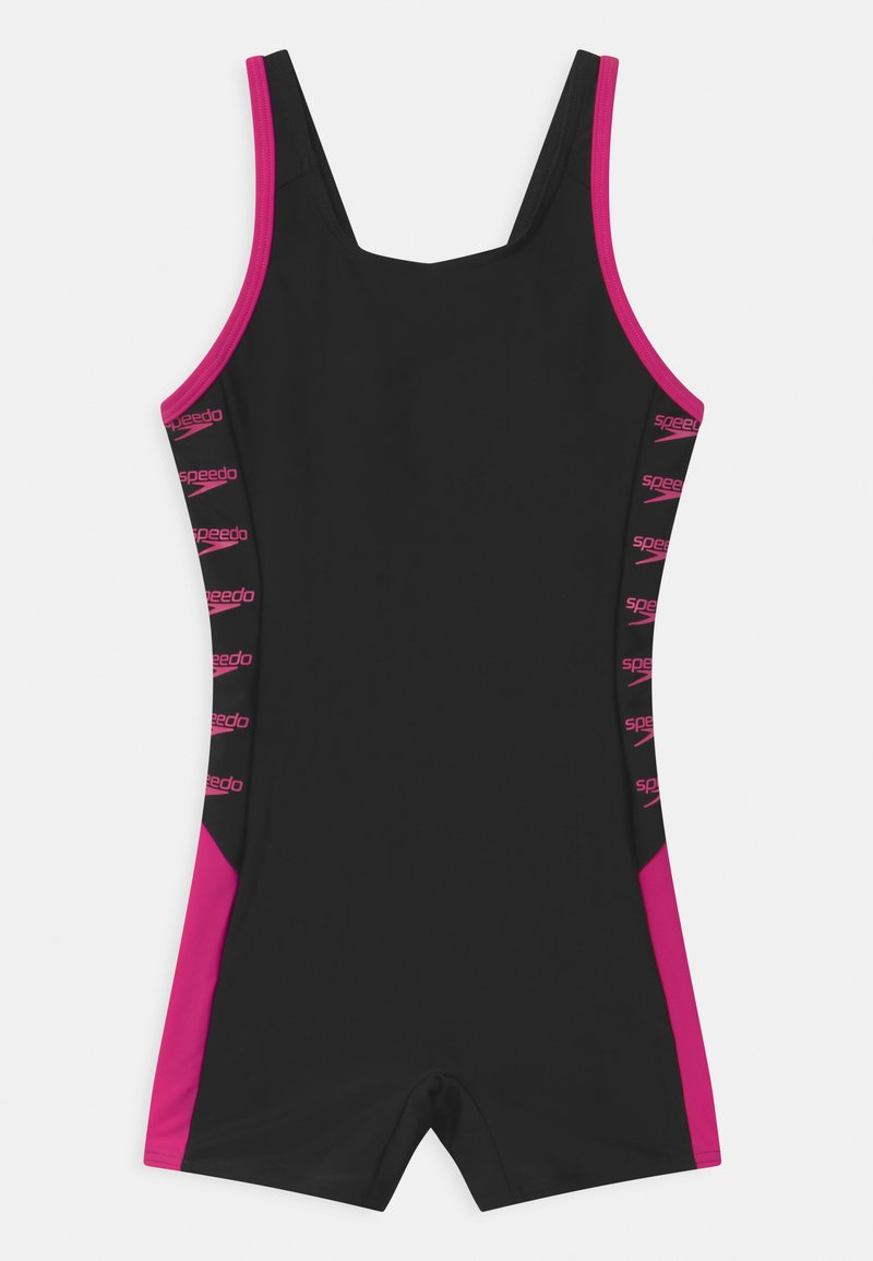 Speedo - BOOM LOGO SPLICE  - Swimsuit - black/electric pink