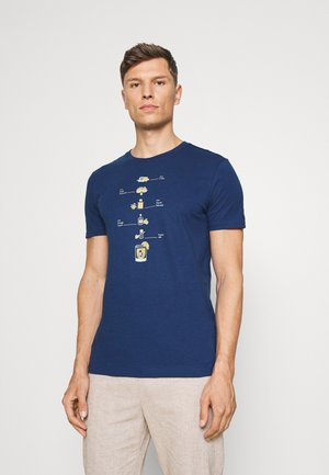 MARGARITA ECO GRAPHIC TEE - Print T-shirt - cabo blue