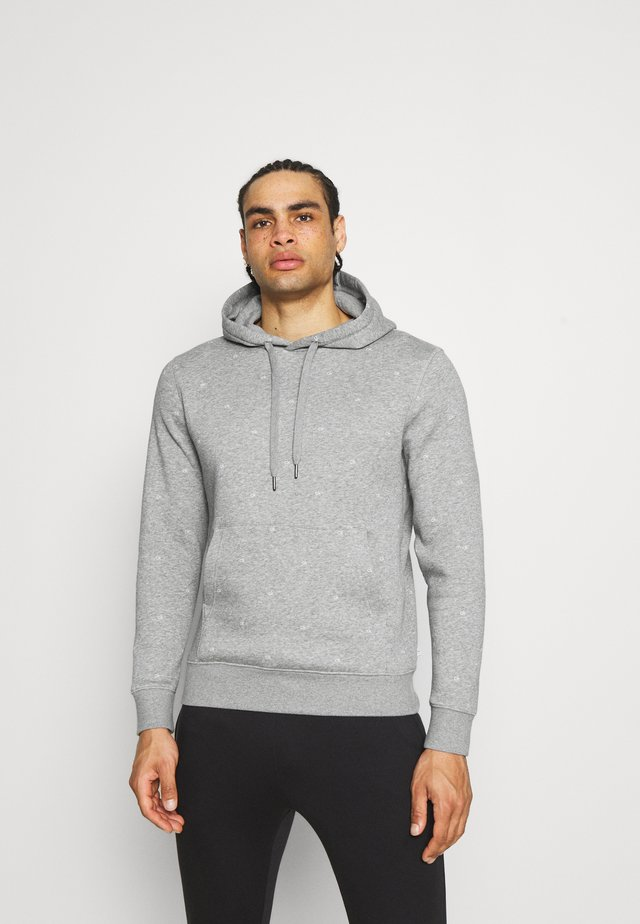 ALL OVER PRINT HOODIE - Sweatshirt - grey