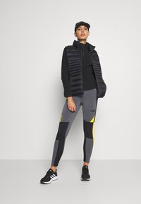 The North Face - STEEP TECH - Leggings - Trousers - vanadis grey/black/lightning yellow - 1