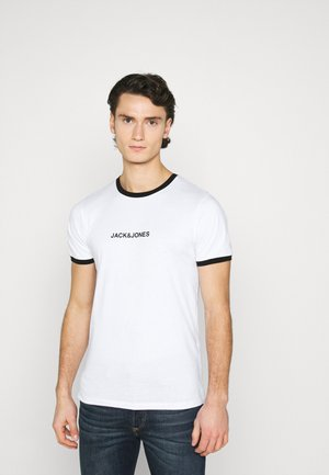 JCORING TEE CREW NECK - T-shirt print - white/black