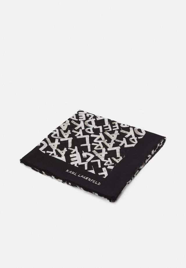 GRAFITI SQUARE SCARF - Šátek - black/white