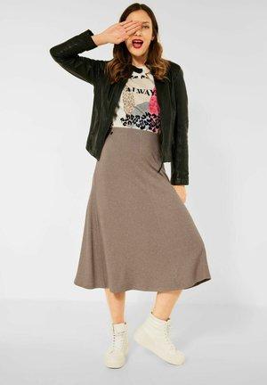 MELANGE OPTIK - A-line skirt - beige