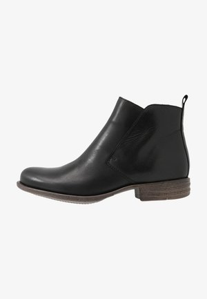 LEATHER BOOTIES - Ankle Boot - black