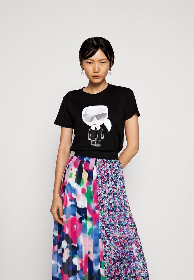 IKONIK - T-shirt con stampa - black