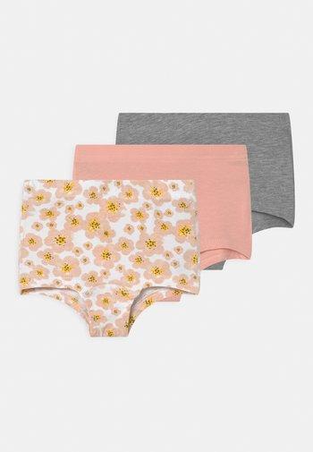 NMFTIGHTS FLOWER 3 PACK - Panties - silver/pink