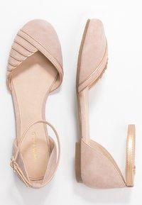 Anna Field - LEATHER ANKLE STRAP BALLET PUMPS - Ballerina med reim - beige - 3