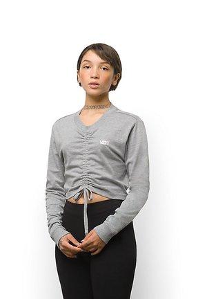 WM DAVIE ROUCHED CROP LS - Sweatshirt - grey heather