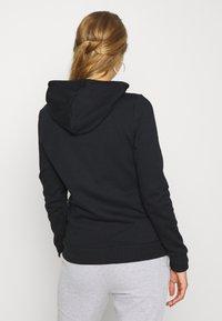 Even&Odd - Regular Fit Zip Sweat Jacket Contrast Cord - Hettejakke - black - 2