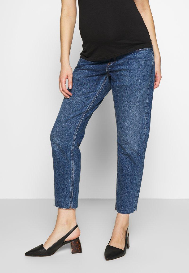 Topshop Maternity - 32'STRAIGHT CLEAN - Straight leg jeans - blue denim