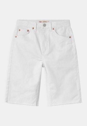 HIGH LOOSE  - Denim shorts - white