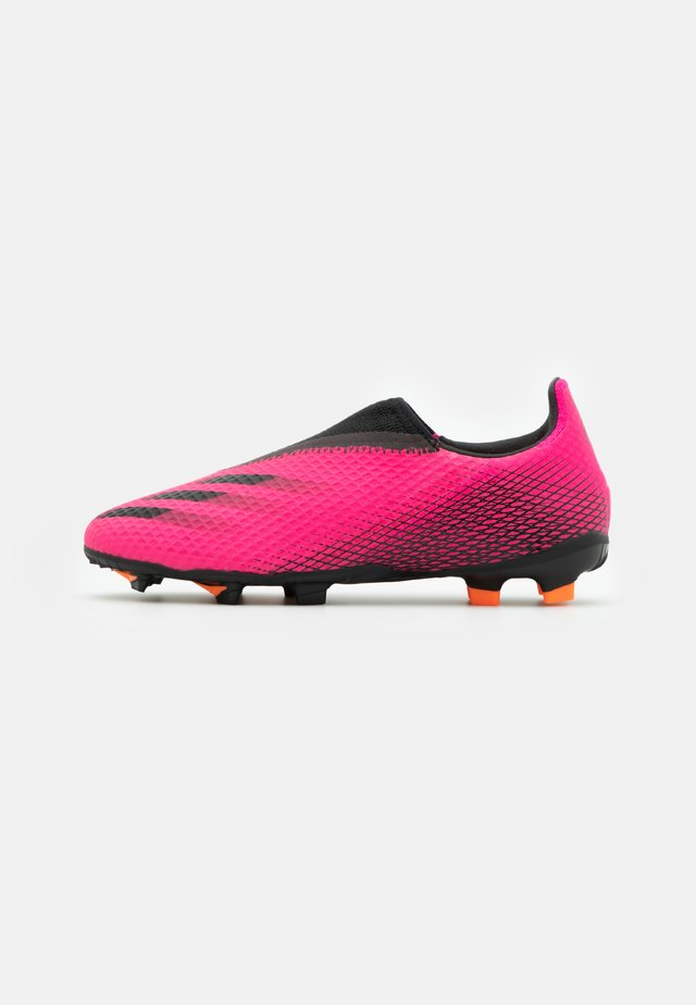 X GHOSTED.3 LL FG UNISEX - Chaussures de foot à crampons - shock pink/core black