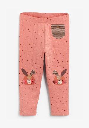 EMBROIDERED  - Leggingsit - pink