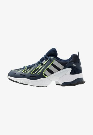 EQT GAZELLE - Matalavartiset tennarit - collegiate navy/core black/solar yellow
