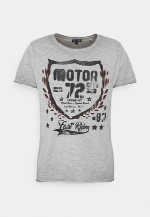 MOTOR CITY ROUND - Print T-shirt - silver