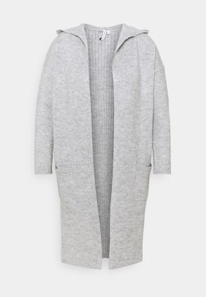 COSY HOODEDUPDATE WITH POCKETS - Cardigan - grey marl